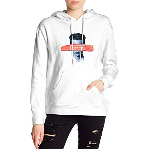 Troye Sivan Tryxe Hoodie Women's Long Sleeve Tops with Pocket Classic Sweatshirt White
