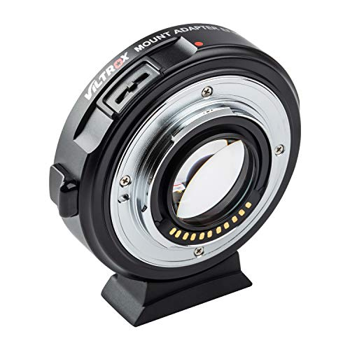 VILTROX EF-M2II Speed Booster Micro 4/3 Focal Reducer Booster Adapter Auto-Focus 0.71x for Canon EF Mount Series Lens to M4/3 Camera GH4 GH5 GF6 GF1 GX1 GX7 E-M5 E-M10 E-M10II E-PL5