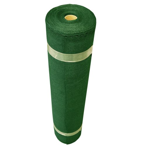 Coolaroo 436094 Outdoor or Exterior, (6' X 50' Small Roll), Forest Green Shade Fabric 50% UV Coverage for Gardening, (12' x 50')