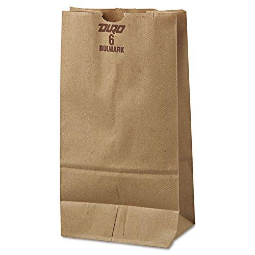 General GX6500#6 Paper Grocery Bag, 50lb Kraft, Extra-Heavy-Duty 6 x 3 5/8 x 11 1/16, 500 bags