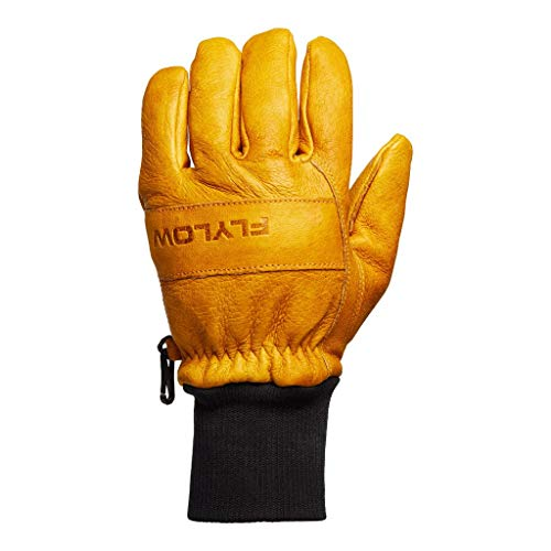 Flylow Leather Ski and Snowboarding Ridge Gloves (Natural, M)