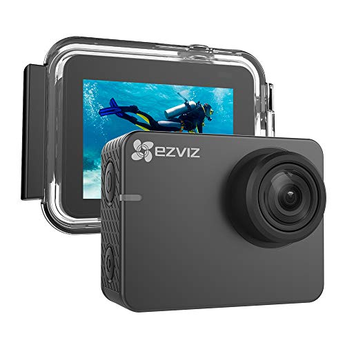 EZVIZ S2 Lite Action Camera 1080p 60fps 8MP 131ft Waterproof 2' Touch Screen Interface On Dash Cam 150° Wide Angle Low-Light Mode Built-in WiFi Bluetooth Pocket Size Outdoor Sports