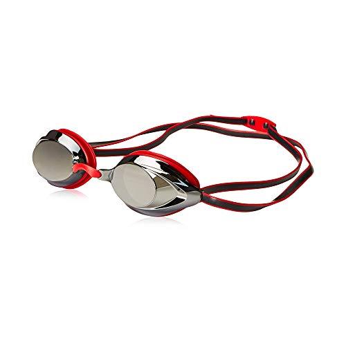 Speedo Unisex-Adult Swim Goggles Mirrored Vanquisher 2.0 Speedo Red, One Size