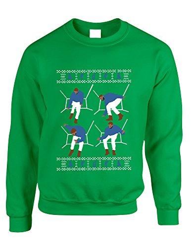 ALLNTRENDS Adult Sweatshirt 4 1-800 Hotline Bling Ugly Christmas Sweater Gift (3XL, Irish Green)