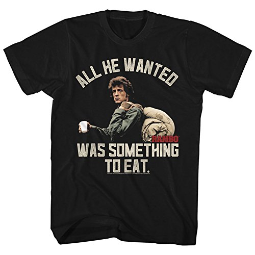 American Classics Rambo All He Wanted Sylvester Stallone Adult T-Shirt Black