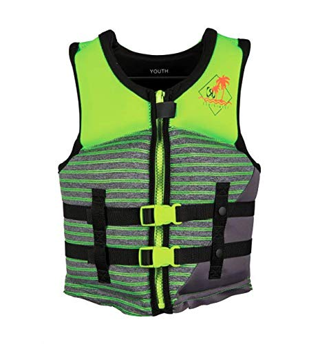 Ronix Vision Boy's - CGA Life Vest - Lime Heather - Youth (50-90lbs) (2020)