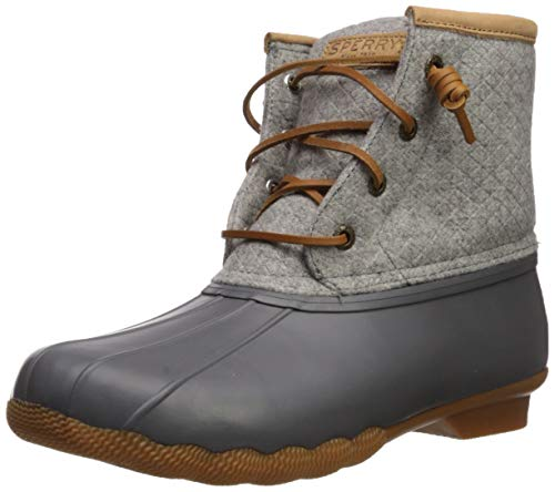 Sperry Womens Saltwater Emboss Wool Boots, Dark. Grey, 10