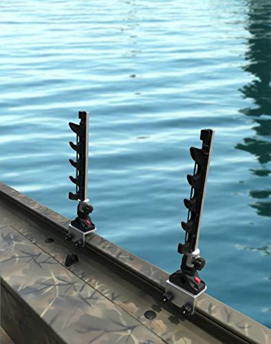 Brocraft Fishing Rod Rack for Tracker Boat Versatrack System