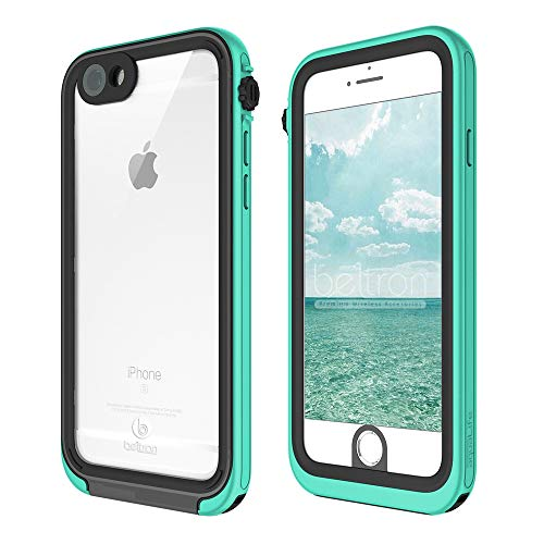 BELTRON aquaLife Waterproof, Shock & Drop Proof, Dirt Proof, Heavy Duty Case Compatible with: iPhone 6/6S (IP68 Rated, MIL-STD-810G Certified) Features: 360° Watertight Sealed Design (Teal)