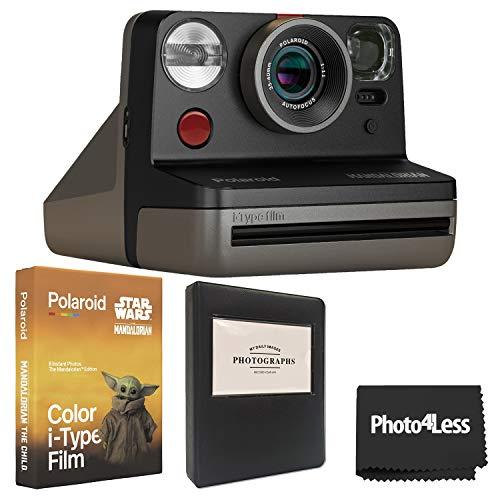 Polaroid Now-Mandalorian I-Type Instant Camera + Polaroid Color Film for I-Type- The Mandalorian Edition + Album + Cloth