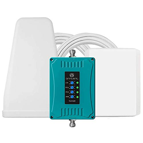5-Band Cell Phone Signal Booster Repeater for All U.S. Carriers - Boosts GSM 3G 4G LTE Voice and Data for Verizon AT&T T-Mobile Sprint - Extend Coverage for Home and Office Up to 5,000Sq Ft