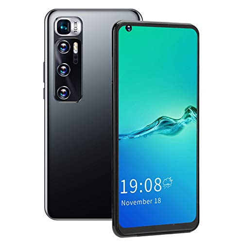 2GB+16GB Smartphone, M11 Pro 6.82in HD Large Full Screen Face ID Fingerprint Unlocked Android Cell Phone Dual Card Dual Standby Phone Mobile Phone 128GB of Expandable Storage Smart Phone (Black)