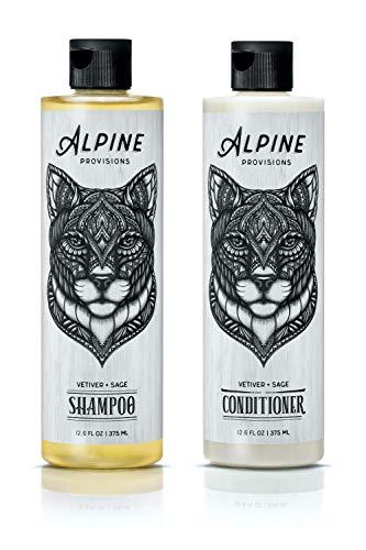 Alpine Provisions, Shampoo & Conditioner, Vetiver + Sage, 12.6 fl oz, Variety 2 Pack