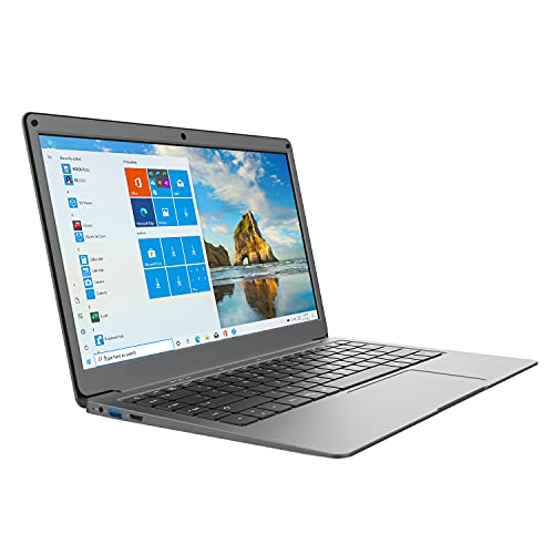 Windows 10 Laptop 13.3' Full HD 1920 x 1080, Light Laptop Computer 4GB RAM, Dual Band 5GHz WiFi (2X WiFi Speeds), Intel Celeron Processor, USB 3.0, Bluetooth, Laptop (64GB,Free Office 1 Year)