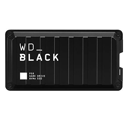 WD_BLACK 500GB P50-Game Drive Portable External Solid State Drive SSD, Compatible with-Playstation, Xbox, PC, & Mac, Up to 2,000 MB/s - WDBA3S5000ABK-WESN