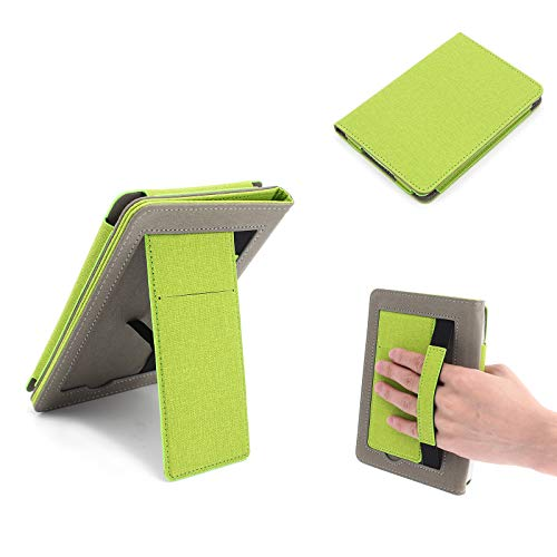 Buwico Multifunctional Protective Case Handheld Cover Case with Stand and Strap for Kindle Paperwhite 4 / 3 / 2 / 1 Ipad (Green)