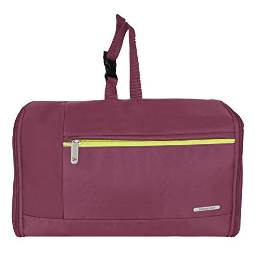 Travelon Flat-Out Toiletry Kit, Plum, One Size