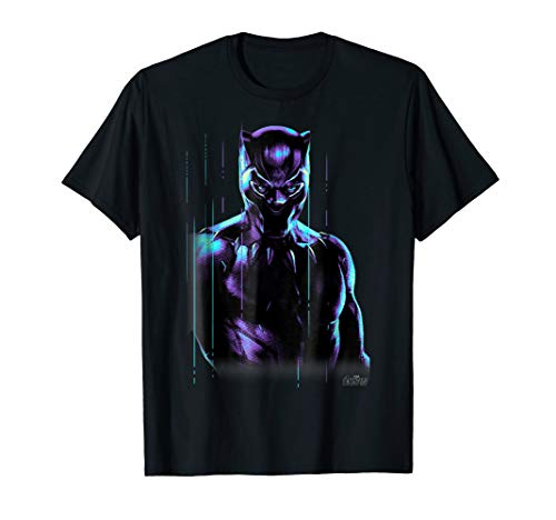 Marvel Infinity War Black Panther Neon Glow Graphic T-Shirt