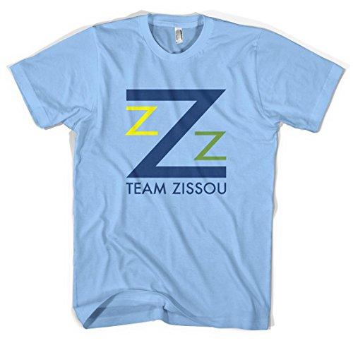 Revolver Tees Team Zissou Unisex T-Shirt Colours (XXL, Light Blue)