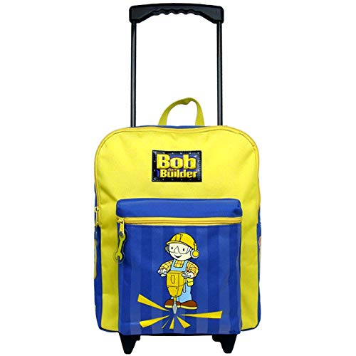 Bob the Builder Large Rolling Backpack / Kids Luggage and FREE Water Bottle - 2 pcs item