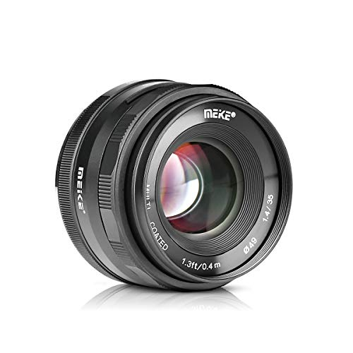 Meike 35mm F1.4 Large Aperture Manual Focus Prime MFT Lens for Micro Four Thirds M43 Olympus and Panasonic Digital Mirrorless Cameras and BMPCC