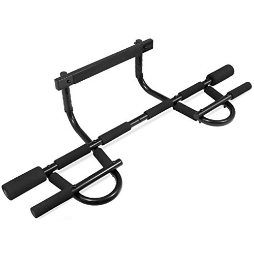 ProsourceFit Multi-Grip Chin-Up/Pull-Up Bar, Heavy Duty Doorway Trainer for Home Gym (ps-1109-cu), Black