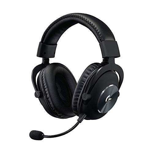 Logitech G PRO Gaming Headset 2nd Generation Comfortable and Durable with PRO-G 50 mm Audio Drivers, Aluminum, Steel and Memory Foam, for PC,PS5,PS4 - Black