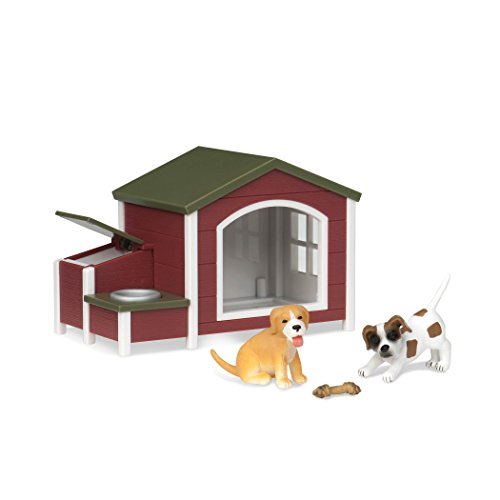 Terra by Battat – Dog House – Toy Dog Figure Playset for Kids 3-Years-Old & Up (5 Pc)