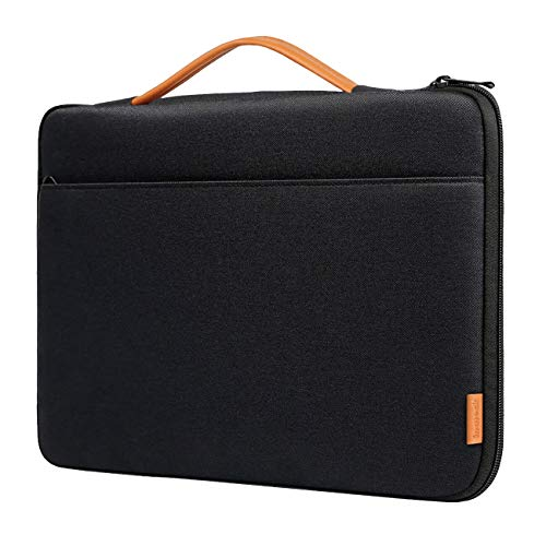 Inateck Laptop Sleeve Shockproof Water-Resistant Case Compatible with 16'' MacBook Pro, 15'' MacBook Pro 2019-2016(A1990/A1707), 15.4'' MacBook Pro 2013-2015, 14'' Laptops Briefcase Bag - Black