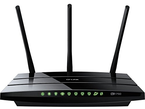 TP-LINK Archer C7 AC1750 Dual Band Wireless AC Gigabit Router, 2.4GHz 450Mbps+5Ghz 1300Mbps, 2 USB Port, IPv6, Guest Network (Renewed)