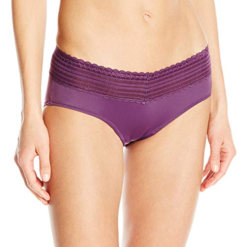 Warner's Women's Plus Size No Pinching No Problems Lace Hipster Panty, Purple fig, XXX-Large