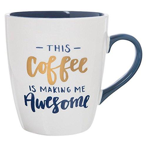 Jumbo Mug 27oz Porcelain 'This Coffee Is Making Me Awesome'
