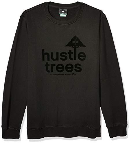 LRG Men's Hustle Trees Logo Fleece Sweatshirt, Black, M