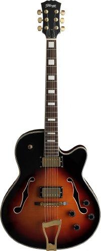 Stagg A350-VS Tiger Stripe'Jazz' Style Semi-Acoustic Model Electric Guitar -Violinburst
