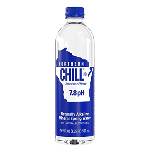 Northern Chill, 16.9oz, 24 pack, Naturally Alkaline Mineral Spring Water, Naturally Filtered Minerals & Electrolytes, BPA Free PET Bottles, This is America's Water