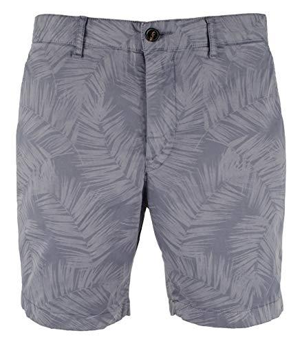 Michael Kors Men's Palm Print Stretch Shorts-SB-38W Smokey Blue