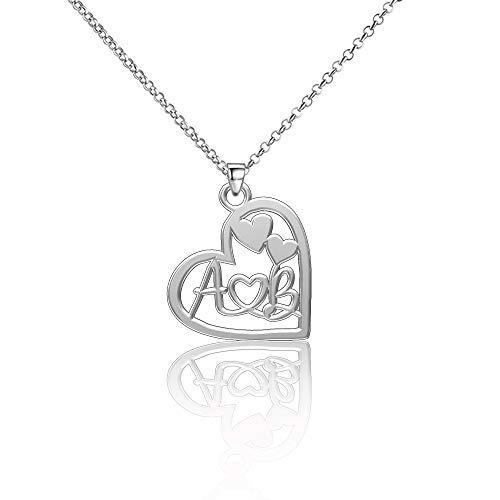 EV.YI Jewels AB Couple Name Necklace Heart Browning White Marine Husband Couples Pinky Jumia