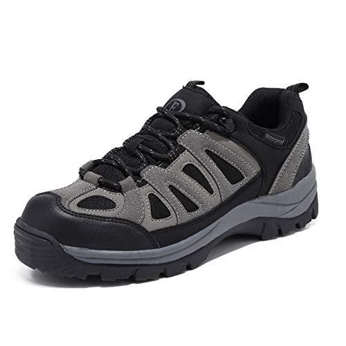EYUSHIJIA Mens Hiking Boots Waterproof Outdoor Non-Slip Sneakers Low Top Trailing Trekking Walking Shoes(11, Black-01)