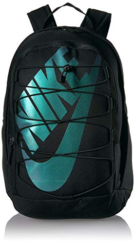 Nike Hayward 2.0 Backpack, Nike Backpack for Women and Men with Polyester Shell & Adjustable Straps, Black/Black/Metallic Silver