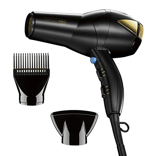 INFINITIPRO BY Conair 1875 Watt Salon Hair Dryer for Coarse, Thick, Wavy, Curly, and Frizzy Hair