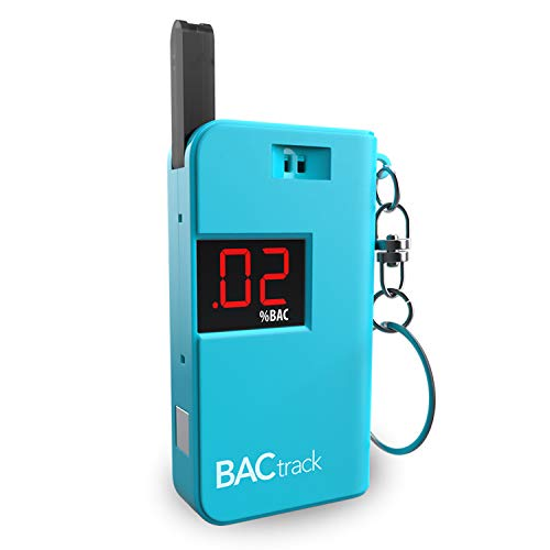 BACtrack Keychain Breathalyzer (Blue) | Ultra-Portable Pocket Keyring Alcohol Tester for Personal Use