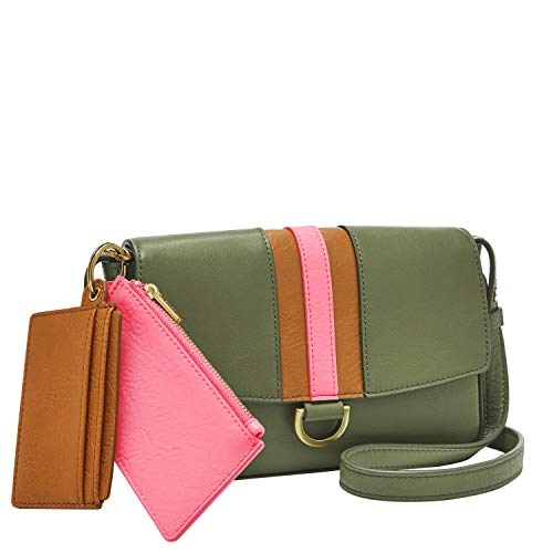Fossil Women's Millie Leather Mini Bag Wallet With Removeable Card Case