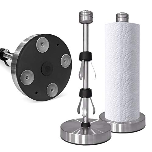Posh by Ford- Stainless Steel Paper Towel Holder, Modern Paper Towel Holder, Steady Paper Towel Holder, Paper Towel Holder for Countertop, One Handed Tear
