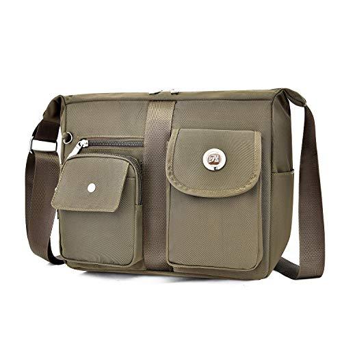Fabuxry Women's Shoulder Bags Casual Purses Handbag Travel Bag Messenger Cross Body Bags(Brown)