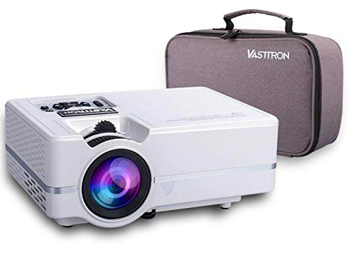 Vasttron Home Video Projector with Carrying Case, 3200 Lux LED Mini Projector with 170' and 1080P Support, Compatible with PS4, TV Sticks, PCs & Smartphones for Movie Theater and Gift