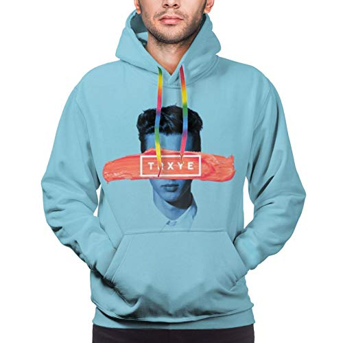 Troye Sivan Tryxe Hoodies Men's Long Sleeve Sweatshirt Drawstring Pockets Pullover Jersey Black