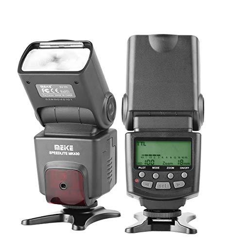 Meike MK430 E-TTL Speedlite Shoe Mount Flash for Canon 70D 77D 80D Rebel T7i T6i T6s T6 T5i T5 T4i T3i SL2 and Other Canon DSLR Cameras