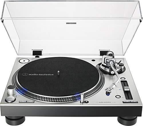 Audio-Technica AT-LP140XP-SV Direct-Drive Professional DJ Turntable, Silver, Hi-Fi, Fully Manual, 3 Speed, High Torque Motor