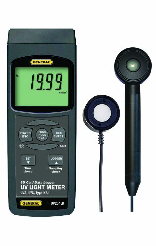 General Tools UV254SD UVC and UVA Data Logging Meter with Excel plus Formatted SD Card