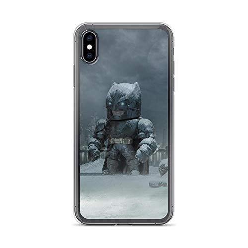 iPhone 7 Plus/8 Plus Shockproof Anti-Scratch Case Bat-Man Superhero Comic Outside Gotham with Batmobile